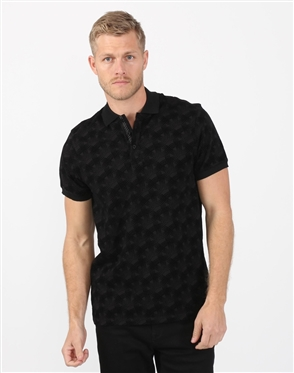 Charcoal Black Mens Polo Designer Shirt