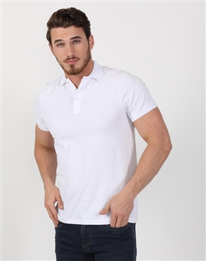 Crystal White Mens Classic Polo Shirt