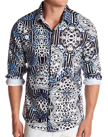 Shop Men Luxury Woven:  Blue White Dress shirt