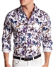 Men White Butterfly Casual Shirt