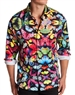 Shop Men Stylish Shirts | Blue Multi Color Butterfly Dress Shirt
