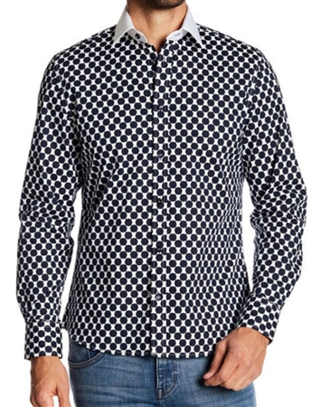 Black Casual Shirt Dot Shirt