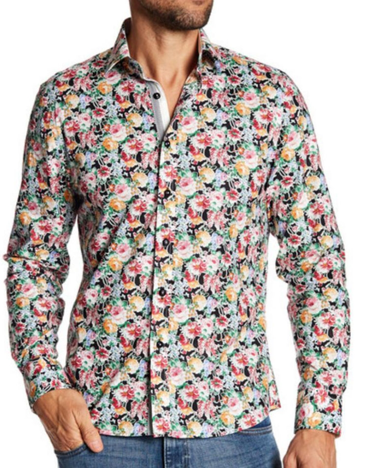 Mens On Down Shirts With Designs | Men Printed Fashion Button Down Shirt Next Level Couture
