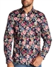 Men Navy Floral Shirt