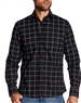 Black Long Sleeve casual Shirt with white check