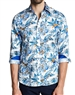 White Tropical Style Casual Shirt