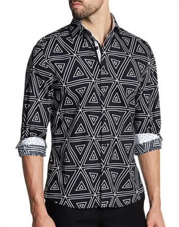 Black Geometric Shirt