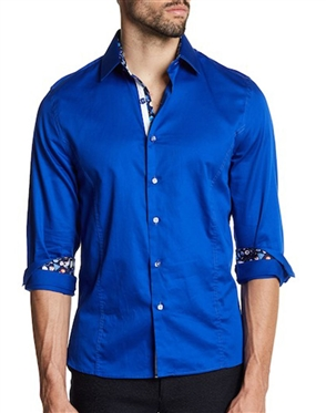 Royal Blue Casual Button Down