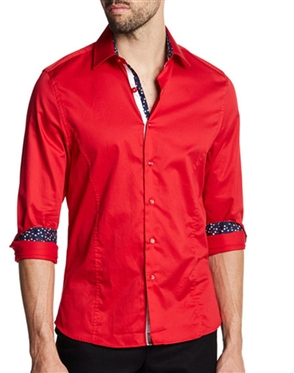 Red Button Down Shirt | Red Casual Shirt