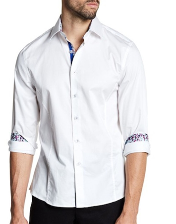 White Casual Shirt | Men Sporty Dress Shirt