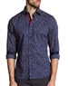 Navy Dress Shirt: Navy Designer Button Down