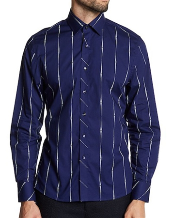 Navy Flashy Shirt : Men Party Shirt