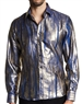 Metallic Color Dress Shirt | Blue metallic Casual Shirt