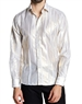 White Metallic Shirt | White Casual Shirt