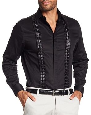 Fashionable Black Dress Shirt