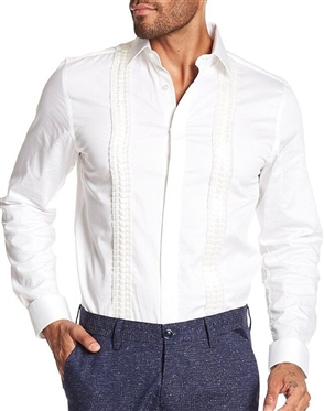 Fashionable White Dress Shirt