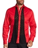 Fashion-Forward Mens Dress Shirt Red