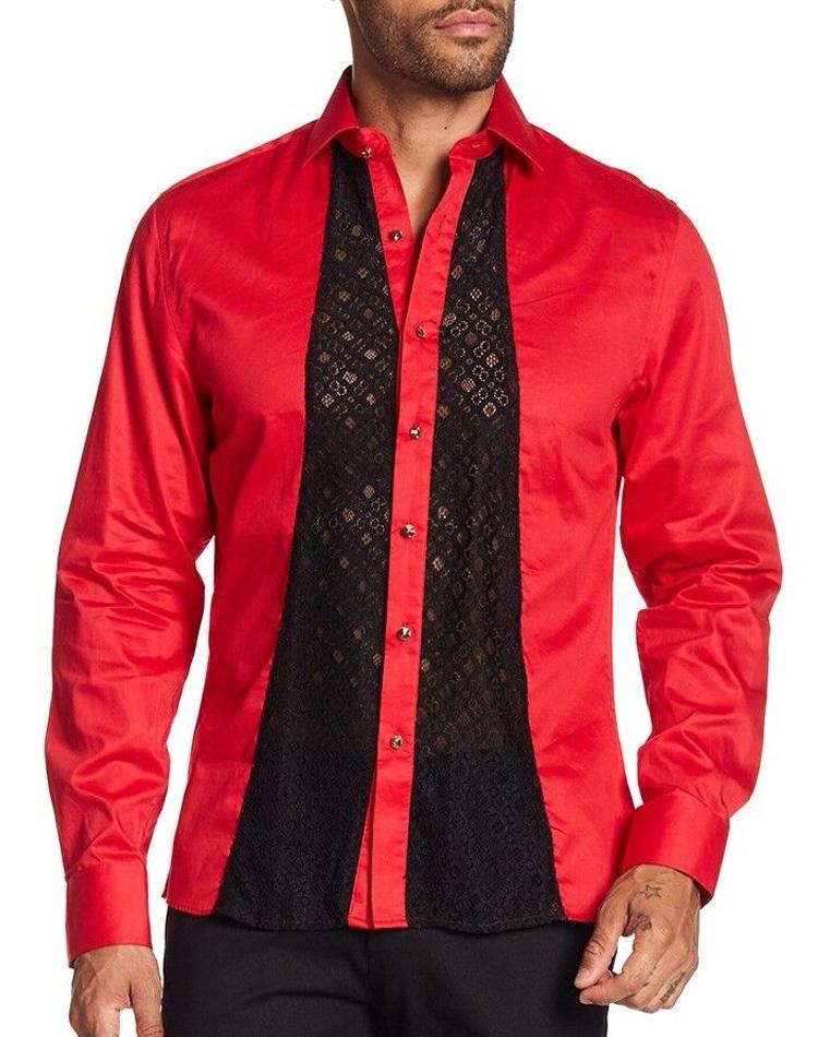 703cd5cc Red Fashion Forward Dress Shirt - Shop Men: Sporty Red Dress Shirt ...