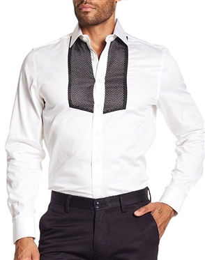 Modern Men's White Dress Shirt