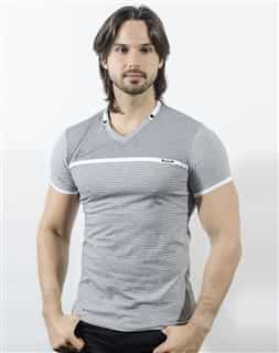 Via Uomo V Neck Shirt White