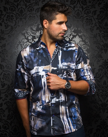 Luxury Dress Shirt - Tampico Black
