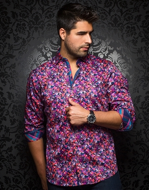 Sporty Dress Shirt - Tavarone Purple