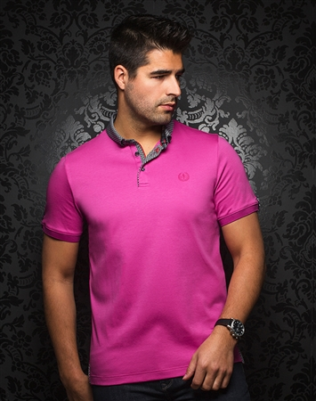 Trendy Men's Polo -  Teddy Fuchsia