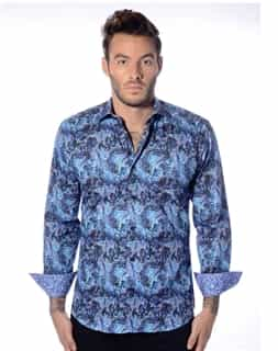 Designer Aqua Dress Shirt