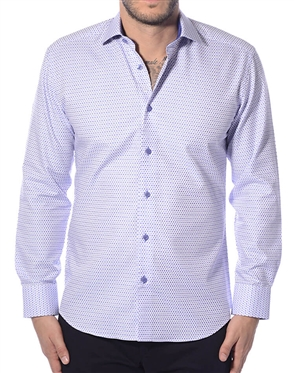 White Blue Dot Designer Shirt