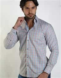 Men Shirts : Turquoise Button Down Shirt