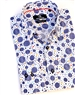 Navy Circle Print Dress Shirt