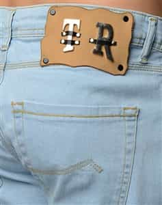 t r premium designer light blue denim jeans