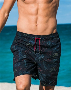Trouvaille Board Shorts |  Flocked Sun Shades