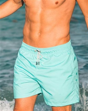 Trouvaille Swimming Trunks | Green Cream