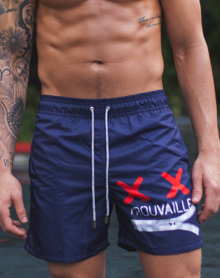 b7866acdcb37 Comfortable and Stylish Men's Swim Trunks | Navy Blue Swim Shorts ...