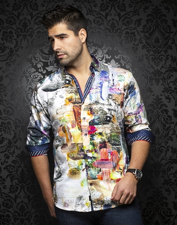 Flattering Multi-Color Dress Shirt: Urbano-multi