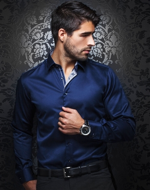 Business Attire | Navy Business Shirt