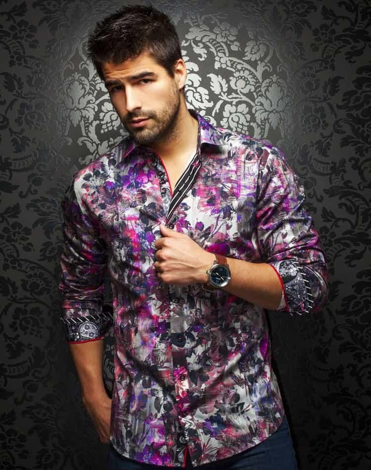 Floral Shirt: Men Floral Print Dress Shirt | Au Noir Shirts ...