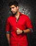 Designer Shirt: Men Luxury Sport Shirt Red