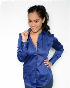 Women Blue business Dress  shirt