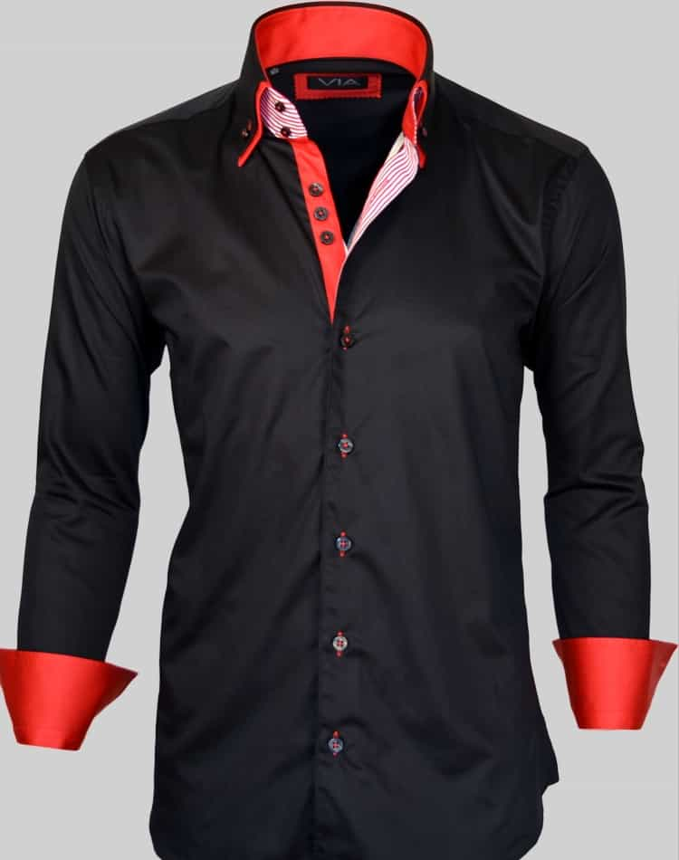 Uomo shirts- Napoli black red shirt