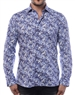 Elegant Dress Shirt - Purple And Black Dotted Designer Shirt