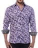 Elegant Dress Shirt - Lavender And Black Dotted Designer Shirt
