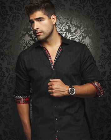 Designer Shirt: Luxury Black Sport Shirt