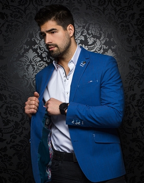 Shop Men's Luxury Blazers - Indigo Sport Jacket