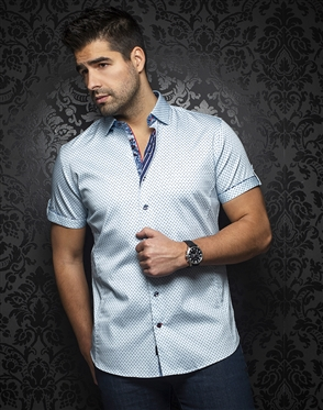 Au Noir Shirt Wexler-ss-light-blue