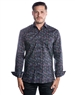 Modern Men's Dress Shirt - Black Multi-Colored Fashion Shirt