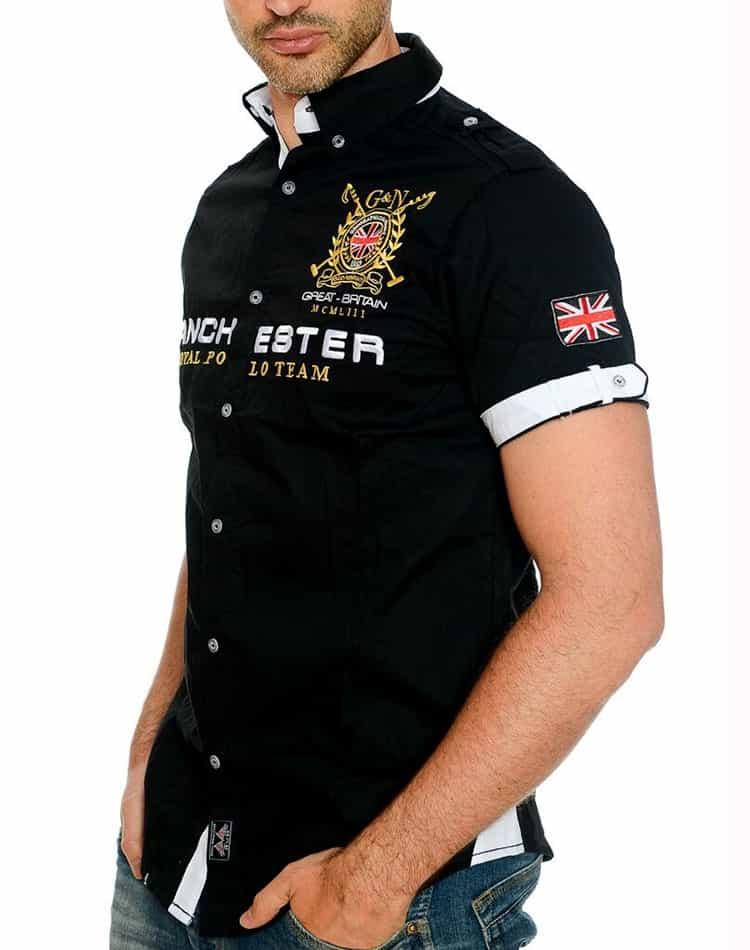 3d77baf6 Geographical Norway England Black Designer Mens Shirt ...