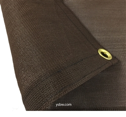6x12 Brown Mesh Tarp