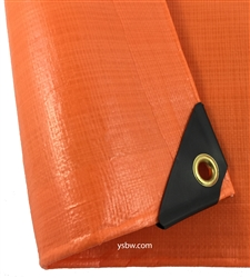 40x40 Orange Heavy Duty Tarp